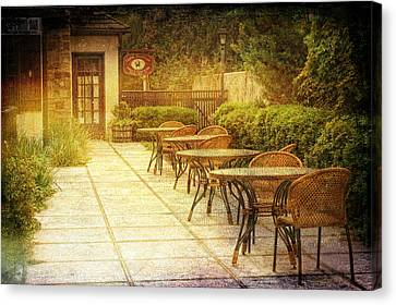 Cozy Cafe' Canvas Print by Regina  Williams