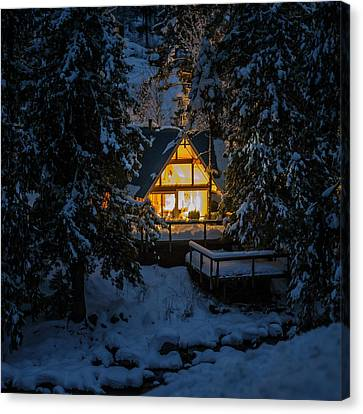 Canvas Print featuring the photograph Cozy Retreat by Dan Mihai