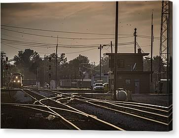 Csx Train Canvas Print - Cp Coal At Fostoria Ohio by Jim Pearson