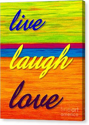 Cp001 Live Laugh Love Canvas Print