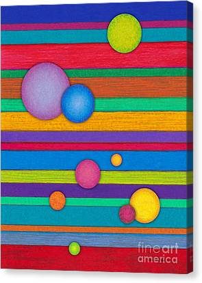 Cp003 Stripes And Circles Canvas Print by David K Small
