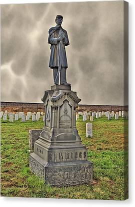 Canvas Print featuring the photograph Cpl Jacob C E Cummings by Stephen  Johnson