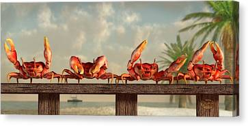 Side Porch Canvas Print - Crab Dance by Daniel Eskridge