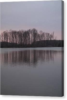 Crab Orchard Lake At Peace - 3 Canvas Print by Frank Chipasula