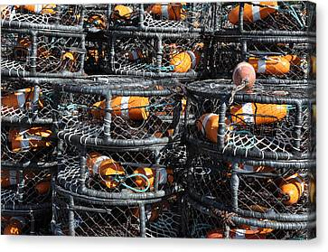 Crab Pots Canvas Print by Brandon Bourdages