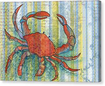 Maryland Canvas Print - Crabby Crab by Priscilla  Jo