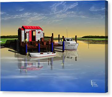 Crabby Shack Canvas Print by Patrick Belote