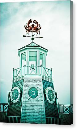 Crabby Weathervane Canvas Print by Marilyn Hunt