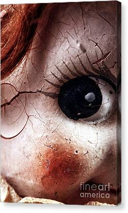 Cracked Eye Canvas Print by John Rizzuto