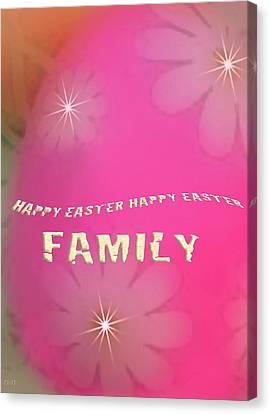 Cracked Happy Easter Canvas Print by Debra     Vatalaro