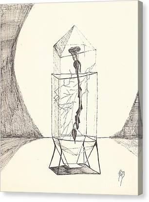 Cracked... Sketch Canvas Print by Robert Meszaros