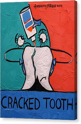 Cracked Tooth Canvas Print by Anthony Falbo