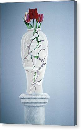 Cracked Urn Canvas Print