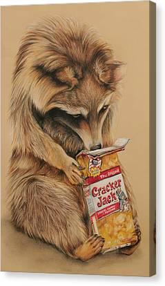 Cracker Jack Bandit Canvas Print by Jean Cormier