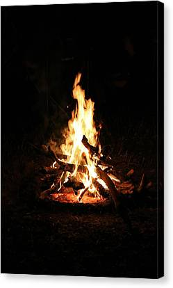 Crackling Bush Campfire Canvas Print