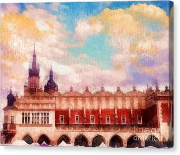 Cracow Cloth Hall Canvas Print
