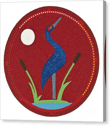 Cradleboard Beadwork Summer Crane Canvas Print