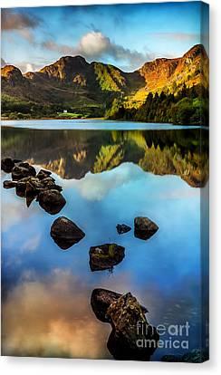 Crafnant Rocks V2 Canvas Print by Adrian Evans