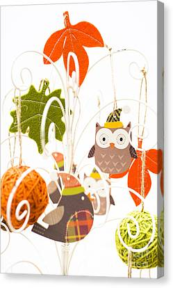 Crafty Christmas Canvas Print by Anne Gilbert