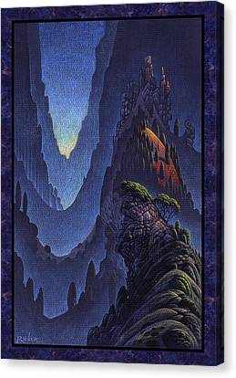 Craggy Fjord Canvas Print