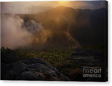 Craggy Garden Sunset Canvas Print
