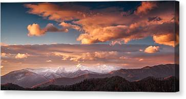 Canvas Print featuring the photograph Craggy Snow by Joye Ardyn Durham