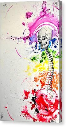 Crainial Sacral Chakra Canvas Print by James Foote