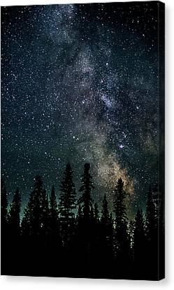 Canvas Print featuring the photograph Cranbrook Milkyway by Rob Tullis