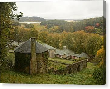 Crane Estate On A Misty Day Canvas Print