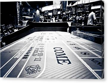 Craps Table In Las Vegas Canvas Print
