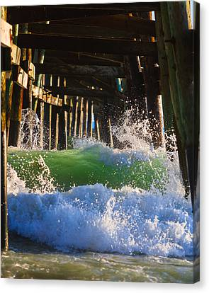 Turquois Water Canvas Print - Crash Into Me by Scott Campbell