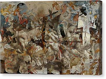 Crash Of Civilizations Canvas Print by M Hammami