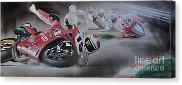 Racing Canvas Print - Crash by Paul Kuras