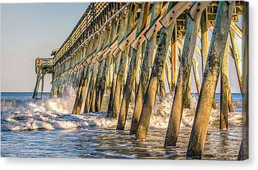 Canvas Print featuring the photograph Crash by Rob Sellers
