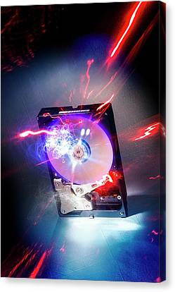 Crashed Hard Drive Canvas Print by Richard Kail