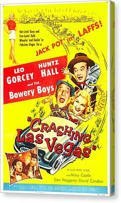 Crashing Las Vegas, Us Poster, Center Canvas Print by Everett