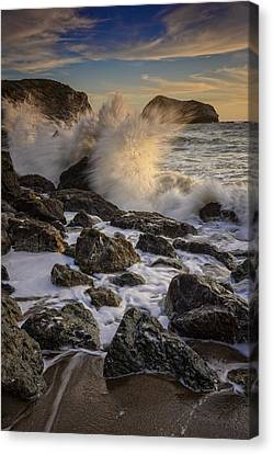 Crashing Sunset Canvas Print by Rick Berk