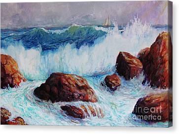 Crashing Surf Canvas Print by Philip Lee