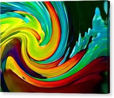 Abstract Digital Art Canvas Print - Crashing Wave by Amy Vangsgard