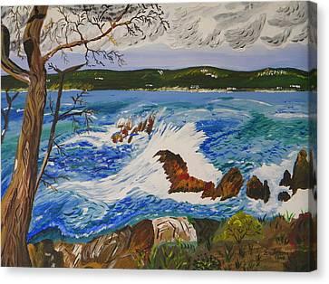 Whalers Cove Canvas Print - Crashing Wave by Eric Johansen
