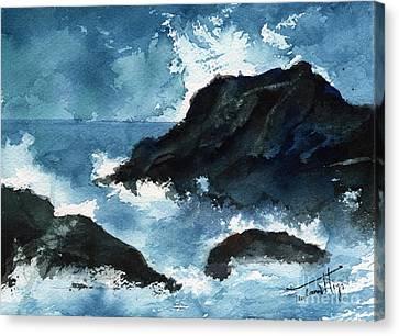 Crashing Waves Of Porto Escondido Mexico Canvas Print