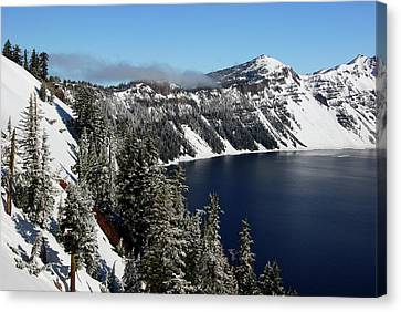 Crater Lake After Snow, Crater Lake Canvas Print