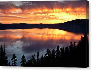 Crater Lake National Park Canvas Print - Crater Lake At Sunrise, Crater Lake by Michel Hersen