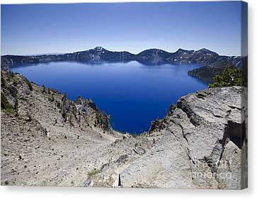 Crater Lake Canvas Print by David Millenheft