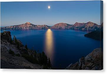 Crater Lake Moonrise Canvas Print
