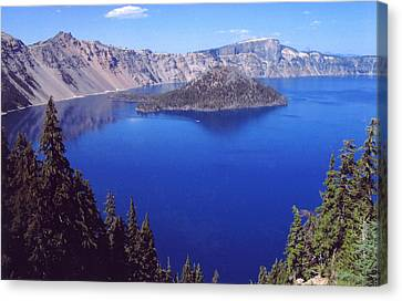 Canvas Print featuring the photograph Crater Lake Oregon by Mary Bedy