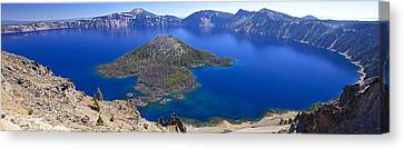 Canvas Print featuring the photograph Crater Lake Panorama 090914a by Todd Kreuter