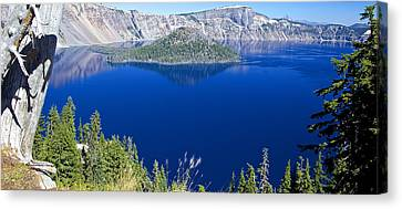 Canvas Print featuring the photograph Crater Lake Panorama 090914b by Todd Kreuter