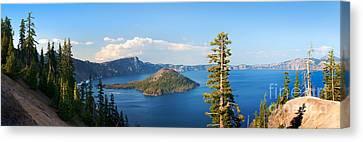 Crater Lake Panorama Canvas Print