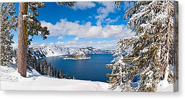 Wizard Island Canvas Print - Crater Lake Panorama by Jamie Pham